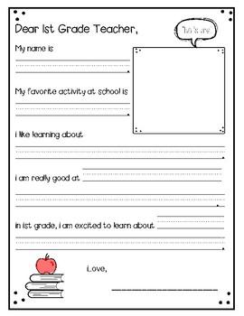 Dear Second Grade Teacher