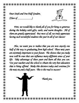 Dear Sixth and One-Half Graders