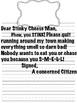 Dear Stinky Cheese Man