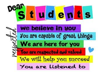 Dear Student - white background