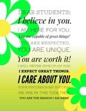 Dear Students (Green Flowers)