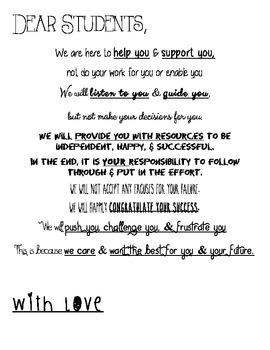 Dear Students... version 2