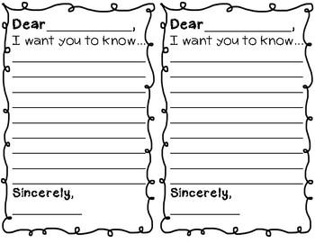 Dear Teacher Template