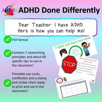 Dear Teacher I have ADHD