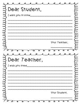 Dear Teacher Postcards