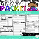 Dear Teacher, You're the Best! Friendly Letter Step-Up Paragraph Packet
