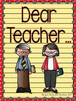 Dear Teacher~end of the year letter template
