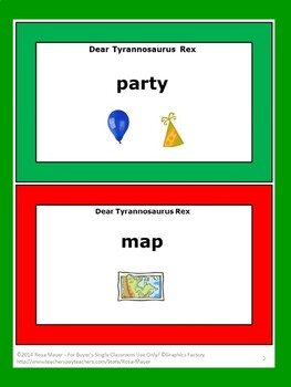 Dear Tyrannosaurus Rex Literacy Task Cards