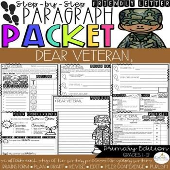 Dear Veteran,  Friendly Letter Step-Up Paragraph Packet
