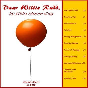 Dear Willie Rudd by Libba Moore Gray (Grades 5, 6, 7)