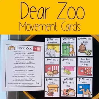 Dear Zoo Movement Cards