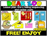 Dear Zoo -Story Sequencing- Re-telling Visuals-FREEBIE