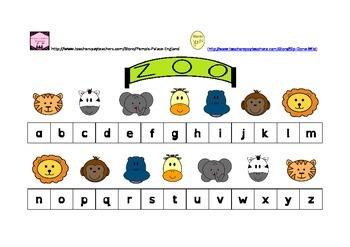 Dear Zoo alphabet strips upper and lower case