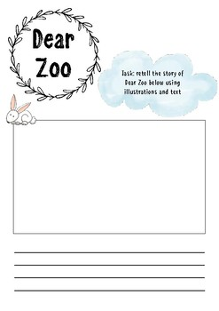 Dear Zoo printable resource - story retell