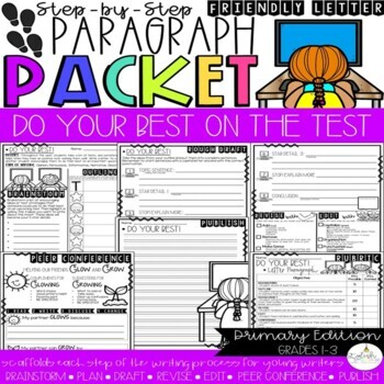 Dear _____, Do Your Best on the Test! Friendly Letter Step-Up Paragraph Packet