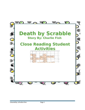 Death By Scrabble Close Reading Activities