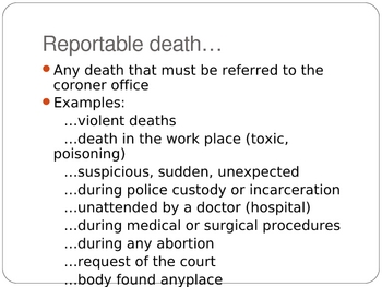 Death: Meaning, Manner, Mechanism, and Time