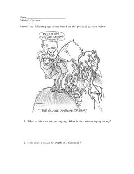 Death of a Salesman Political Cartoon