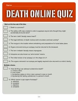 Death Online Quiz