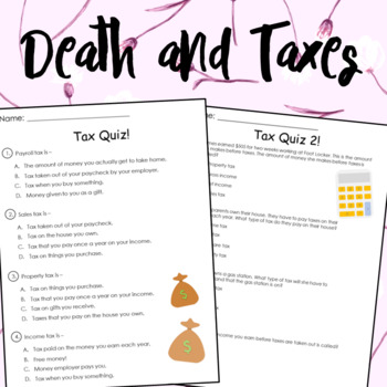 Death & Taxes Worksheets
