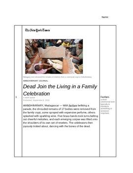 Death Tradition Close Reading