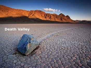 Death Valley - Power Point -  hottest place on earth