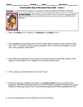 Death and the King's Horseman Study Guide