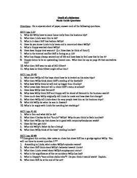 Death of A Salesman Study Guide