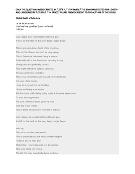 Death of Auto-Tune- Jay-Z- Literary analysis