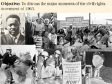 Death of Malcom X, March on Montgomery and Watts Riots Pow