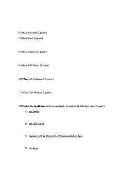 Death of a Salesman Act 1 Quiz - All written