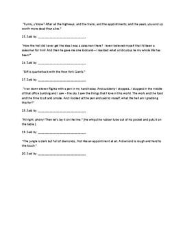 Death of a Salesman Act II Quotes Quiz