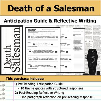 Death of a Salesman - Anticipation Guide & Post Reading Reflection