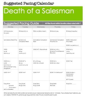 Death of a Salesman Arthur Miller BUNDLE!