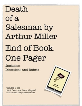 Death of a Salesman Arthur Miller One Pager Directions/Project