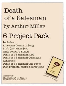 Death of a Salesman Arthur Miller Project Pack