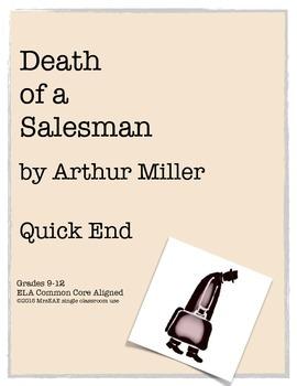 Death of a Salesman Arthur Miller Quick End Reflection FREEBIE!