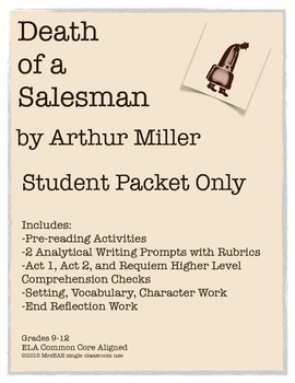 Death of a Salesman Arthur Miller Student Packet Only