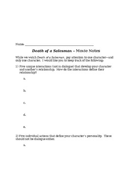 Death of a Salesman Discussion Questions