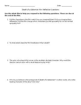 Death of a Salesman Film Questions