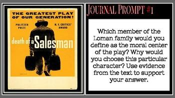 Death of a Salesman Journal Prompt Bundle