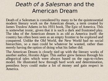 Death of a Salesman Lecture