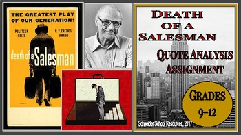 Death of a Salesman Quote Analysis Activity