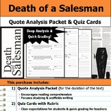 Death of a Salesman - Quote Analysis & Reading Quizzes