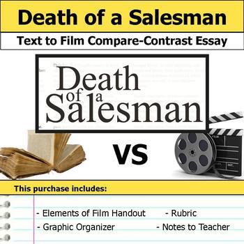 Death of a Salesman - Text to Film - Compare & Contrast Es
