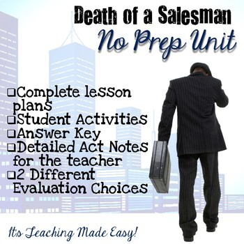 Death of a Salesman Unit (Complete No Prep)