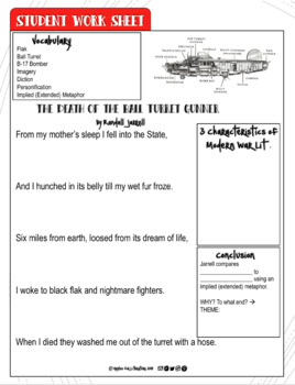 "Print & Teach ""Death of the Ball Turret Gunner"" by Randall Jarrell"