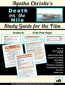 Death on the Nile: The Study Guide for the Film (14 Pages,