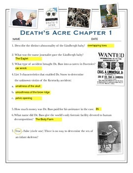 Death's Acre - Chapter 1 Questions w/key