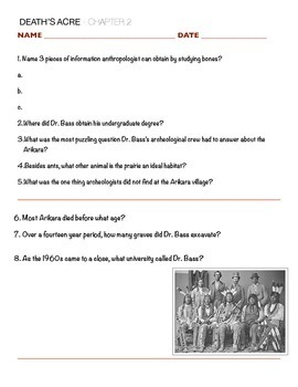 Death's Acre - Chapter 2 Questions w/key